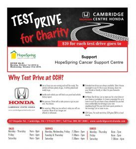 October Test Drive for Charity - HopeSpring