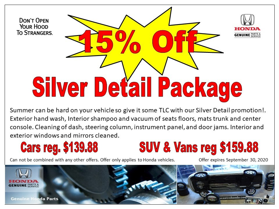 15% off Silver Detail Package