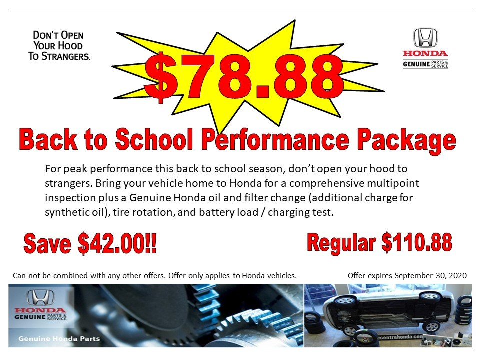 $78.88- Back to School Performance Package