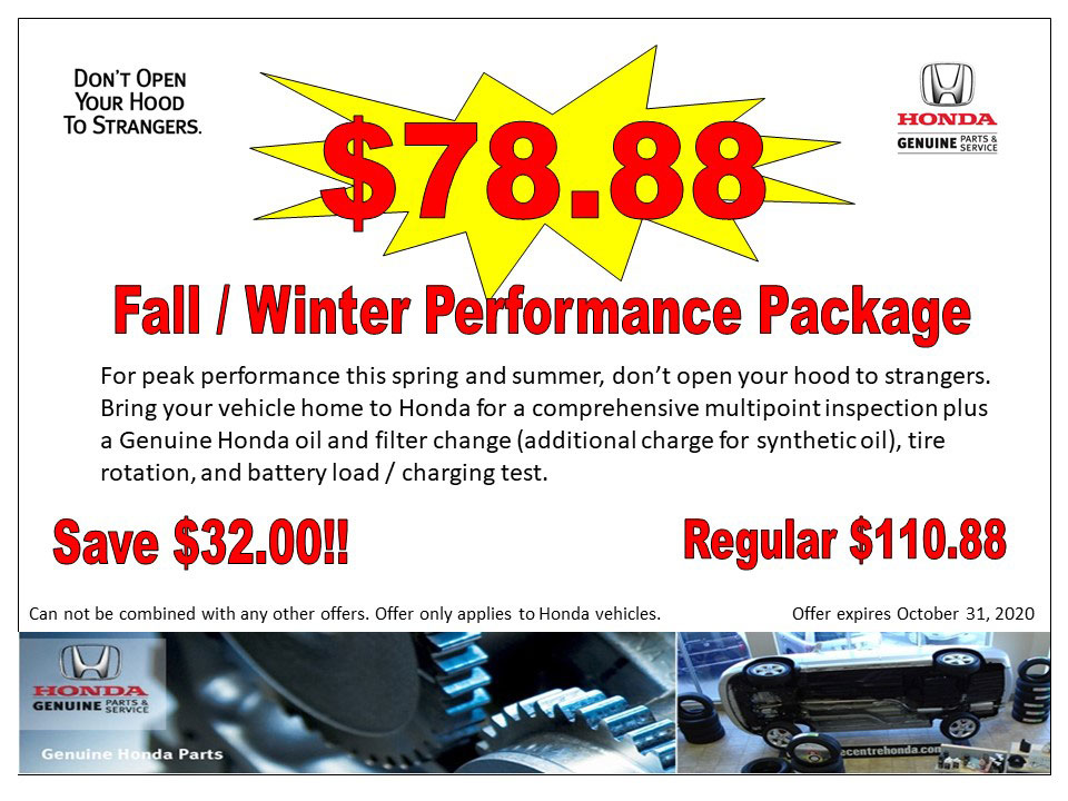 $78.88- Fall / Winter Performance Package