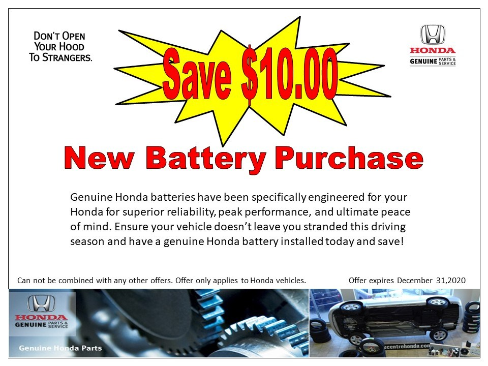 Save $10 – New Battery Purchase