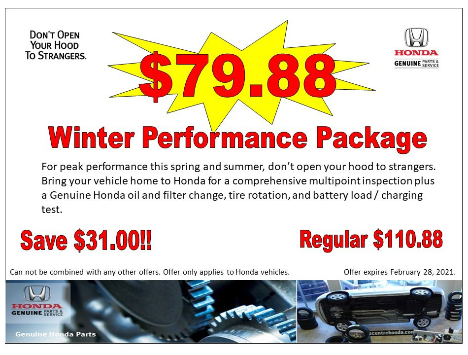 $79.88 Winter Performance Package