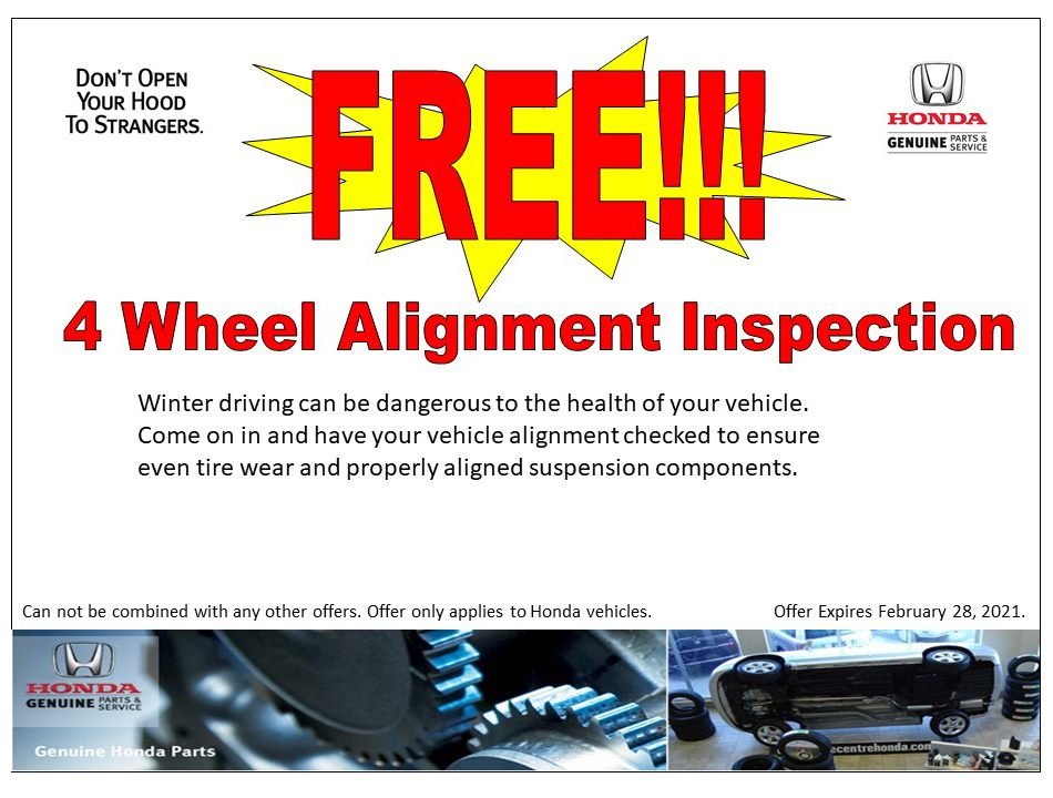 FREE!!! 4 Wheel Alignment Inspection