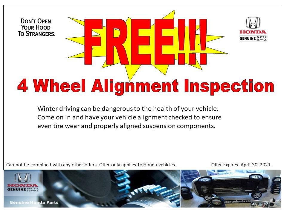 FREE!!! 4 Wheel Alignment Inspection