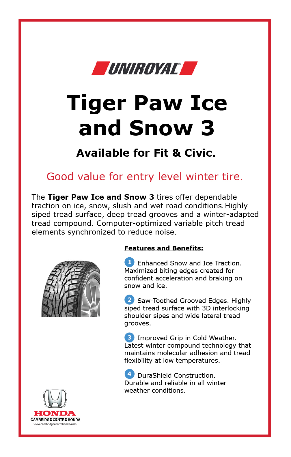 Uniroyal Tiger Paw Ice and Snow 3