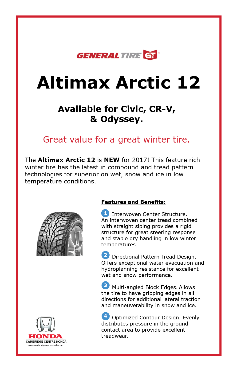 General Tire Altimax Arctic 12