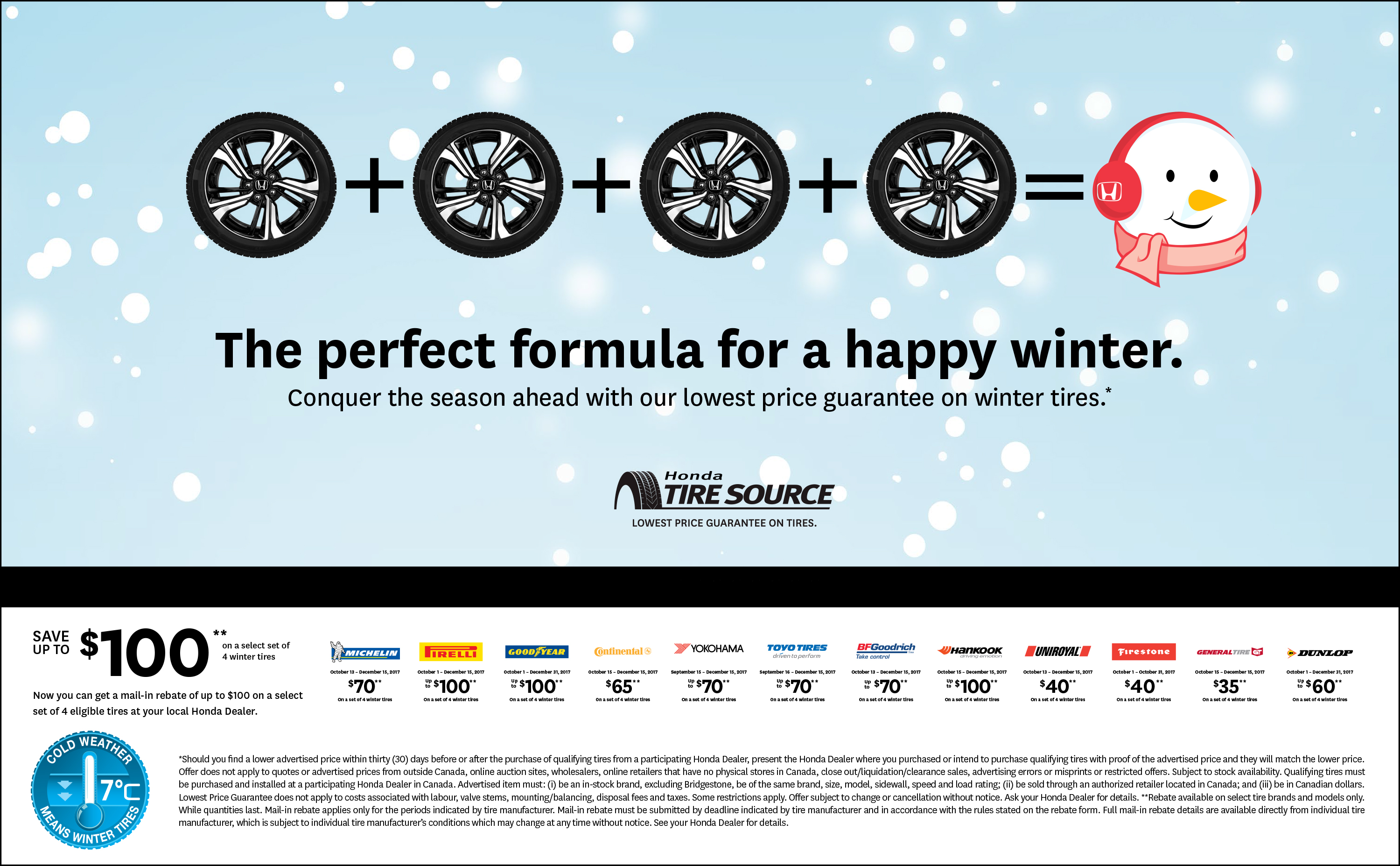 Winter Tire Rebates