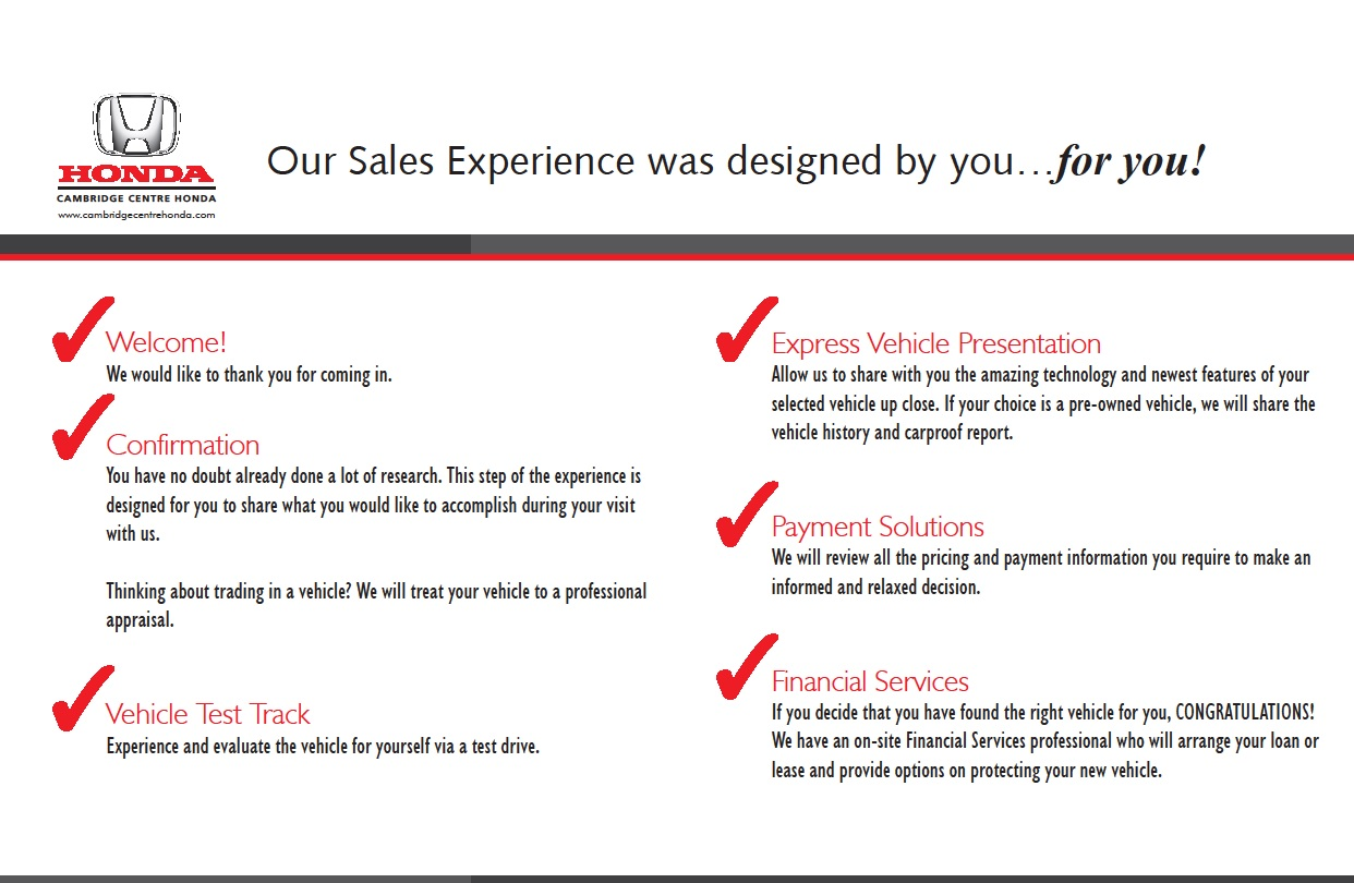 Our Sales Experience
