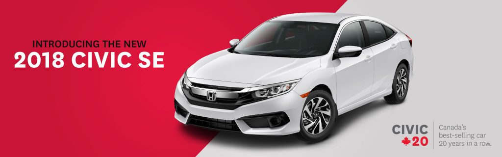 Honda Canada Celebrates 20 Years Of Best Selling Civic With New SE Trim    Cambridge Centre Honda