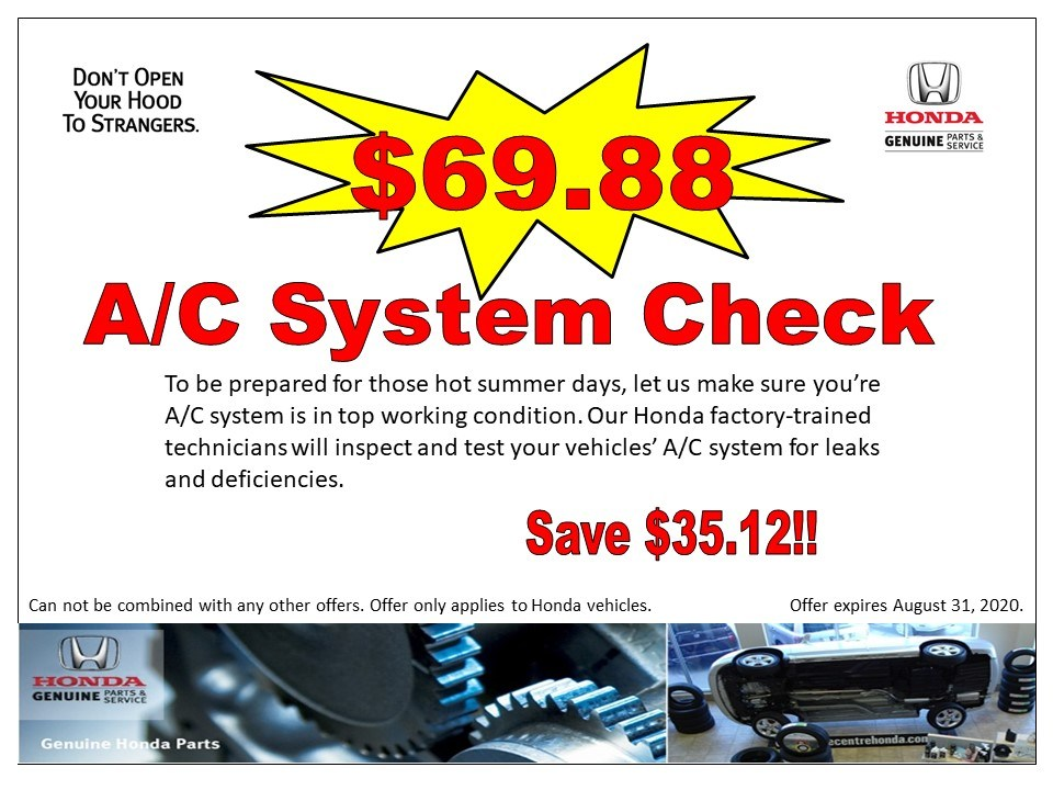 A/C System Check