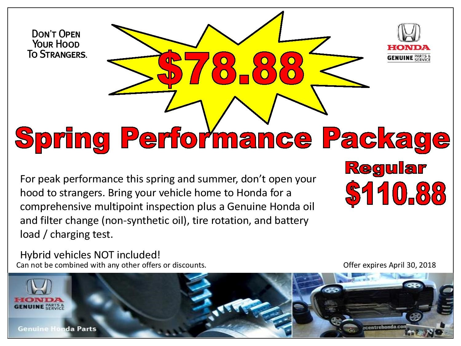 Spring Perfomance Package $78.88