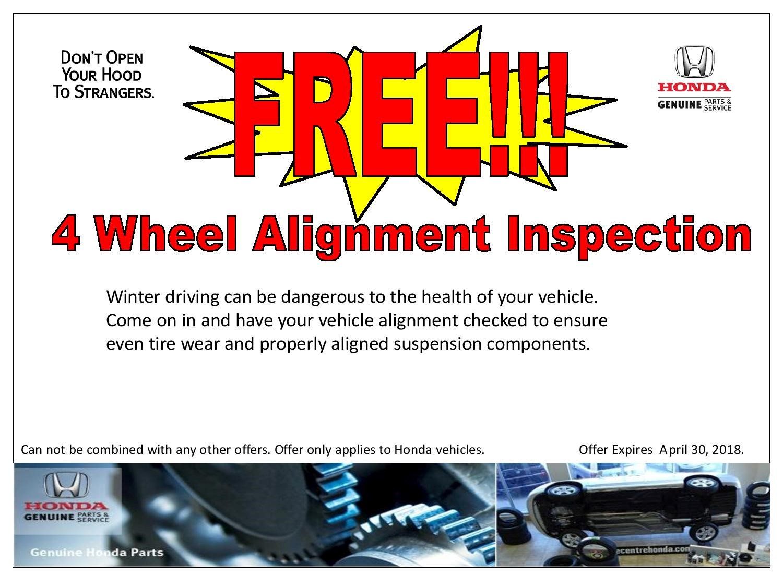 FREE 4 Wheel Alignment Inspection