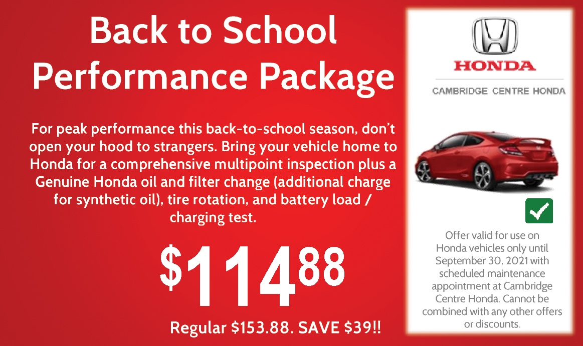 Back to School Performance Package