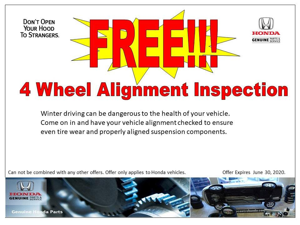 FREE!! 4 Wheel Alignment Inspection