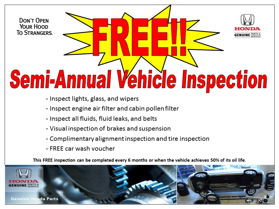Semi Annual Vehicle Inspection