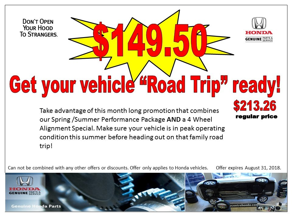"Get your vehicle ""Road Trip"" ready!"