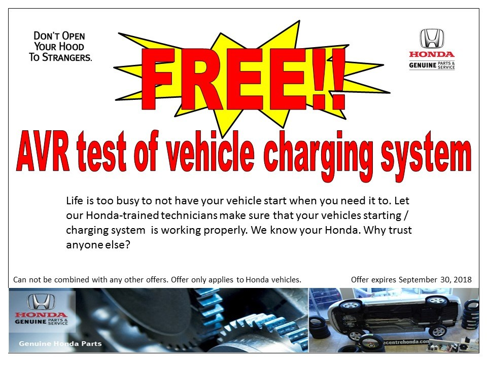AVR Test of vehicle charging system