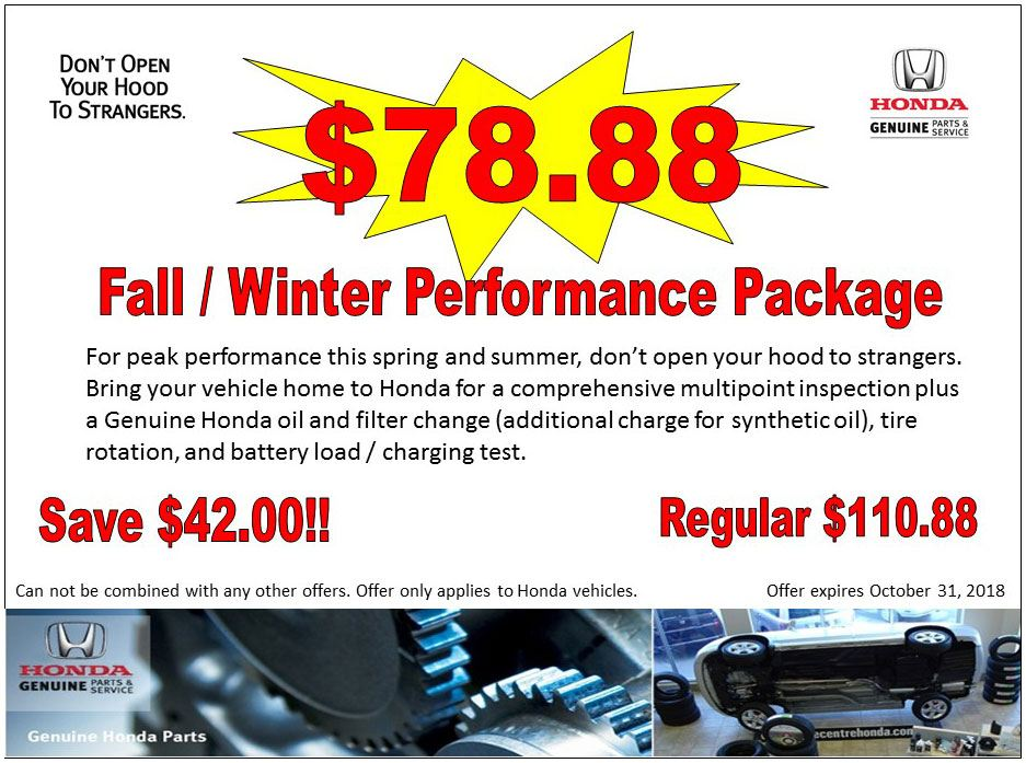 Fall / Winter Performance Package