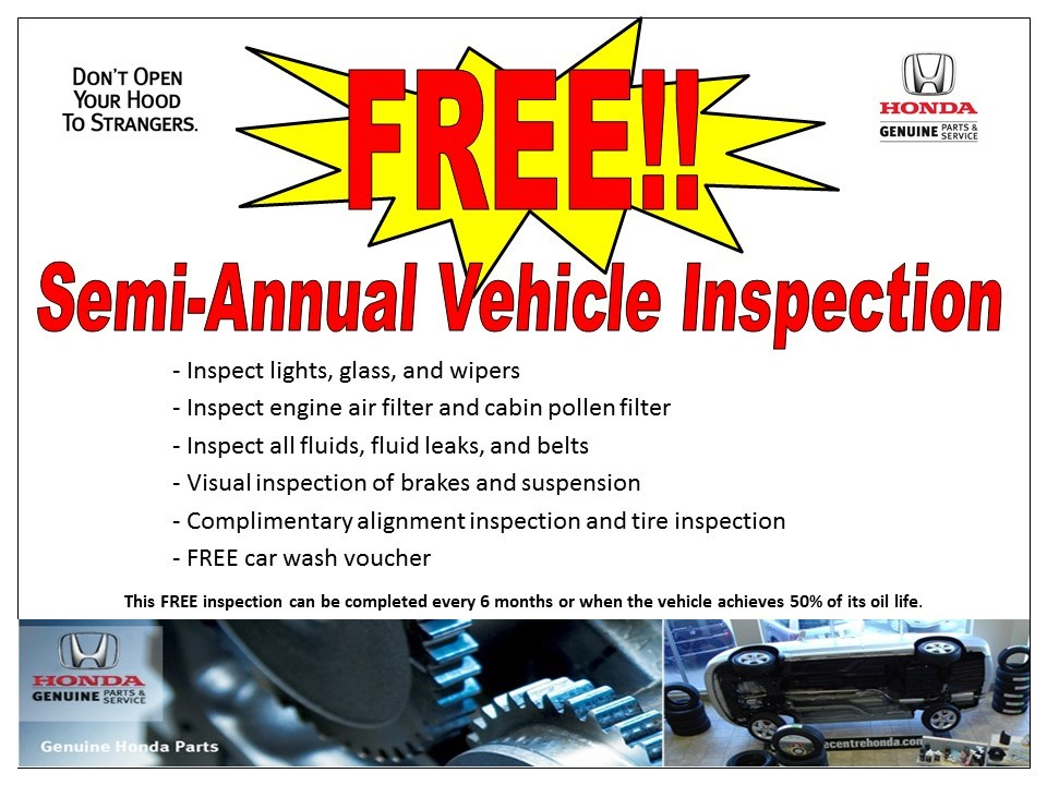 Free Semi Annual Vehicle Inspection