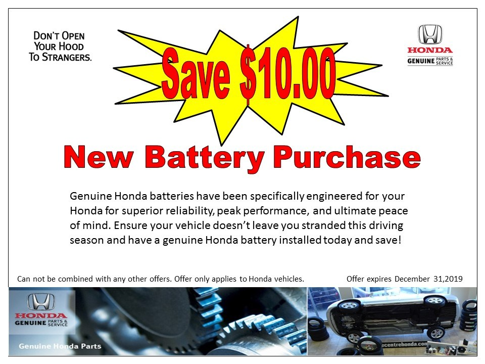 Save $10 New Battery Purchase