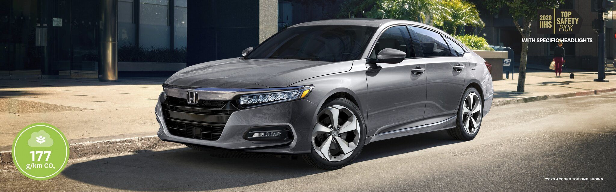 Front side view of 2020 Honda Accord parked