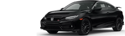 Front of black 2020 Honda Civic Coupe