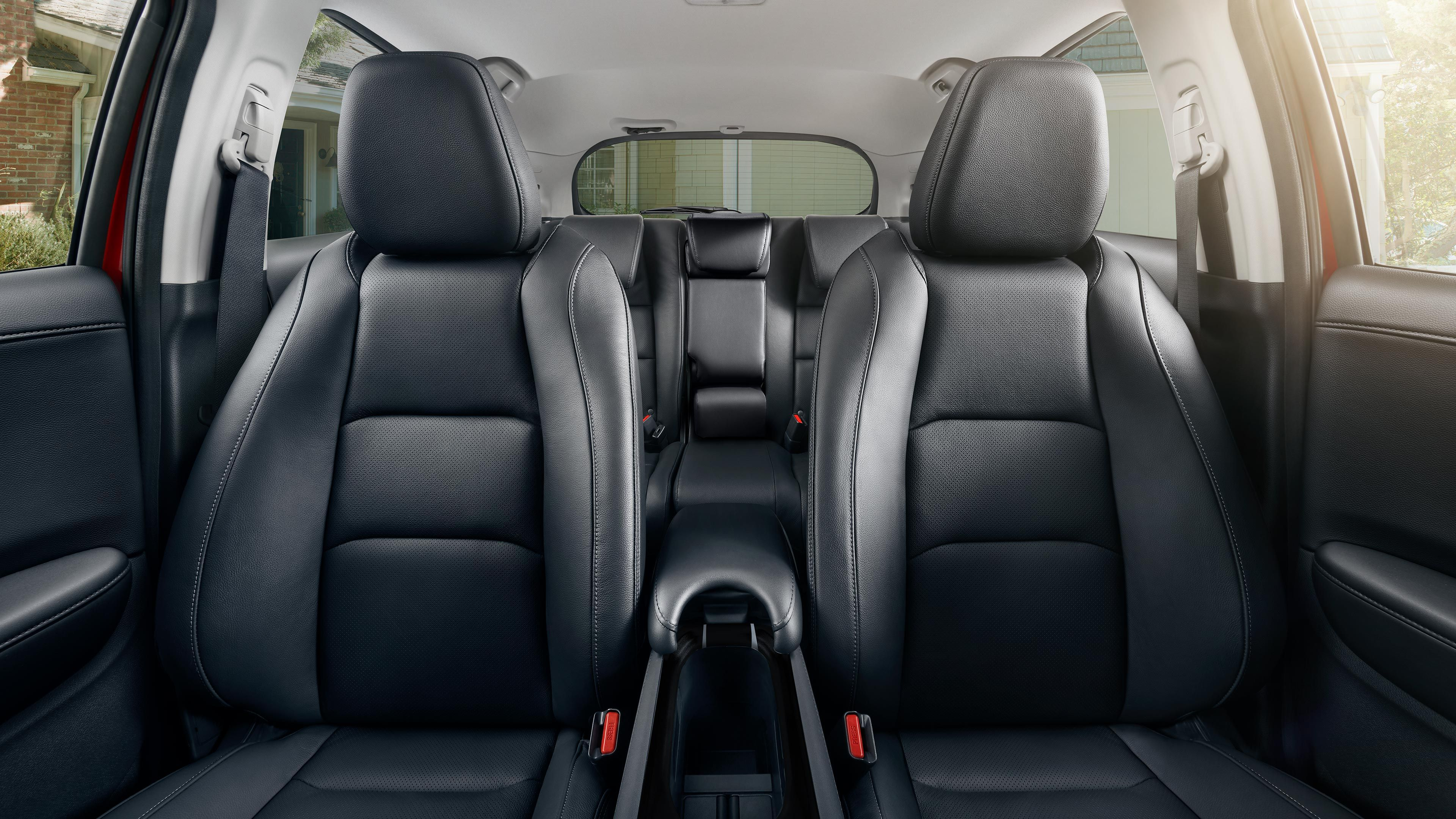 Interior of the 2020 Honda HR-V from the front to the back