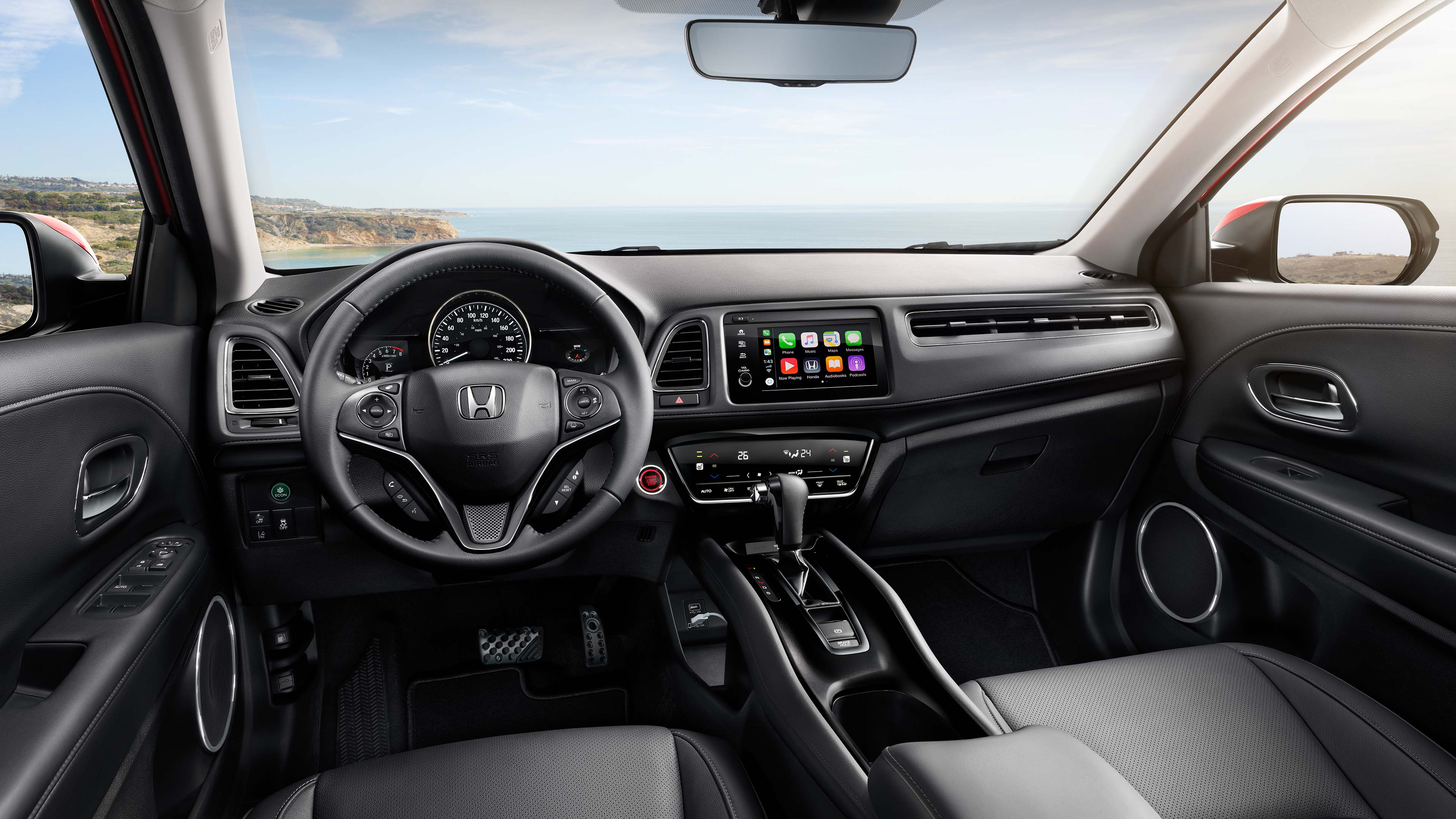 Interior front of the 2020 Honda HR-V from the back