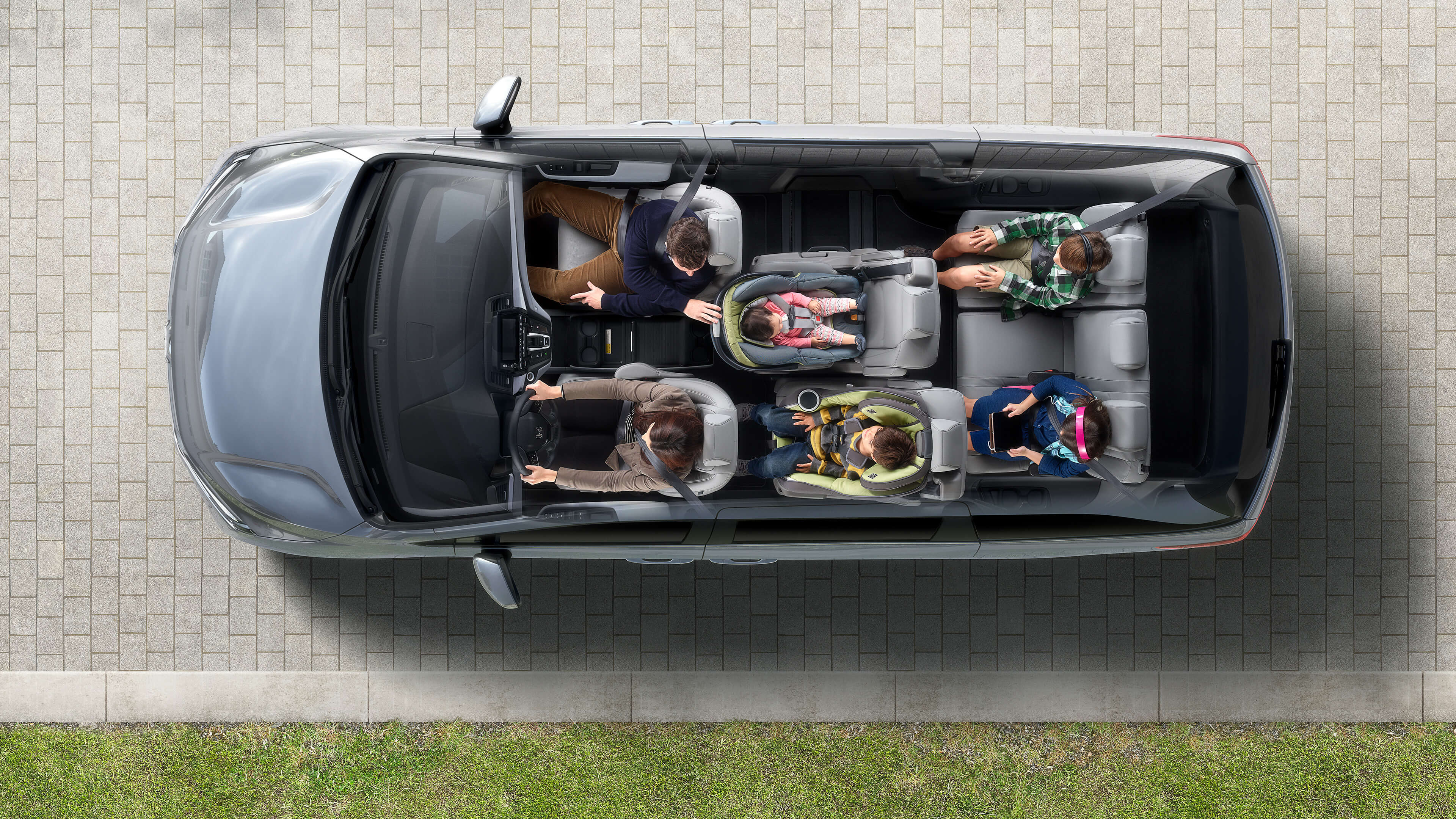 Overhead view of the 2020 Honda Odyssey