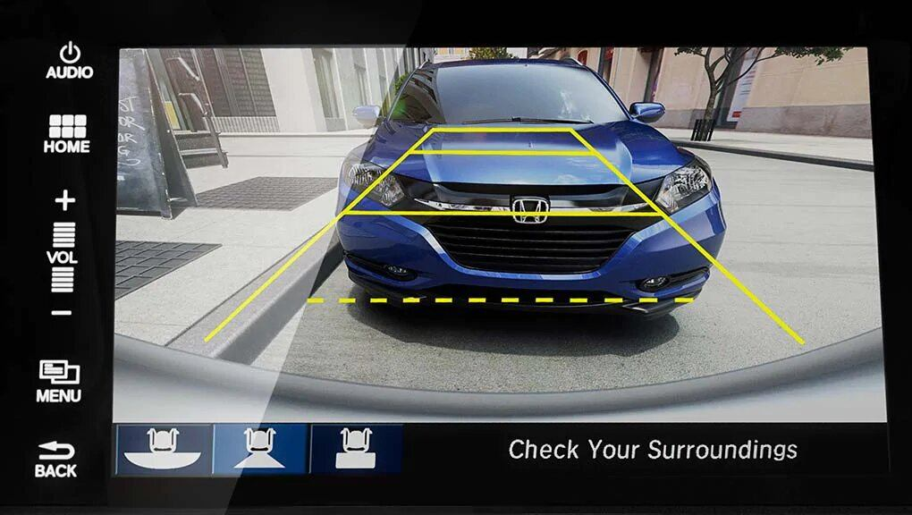 Honda rearview camera guideline display
