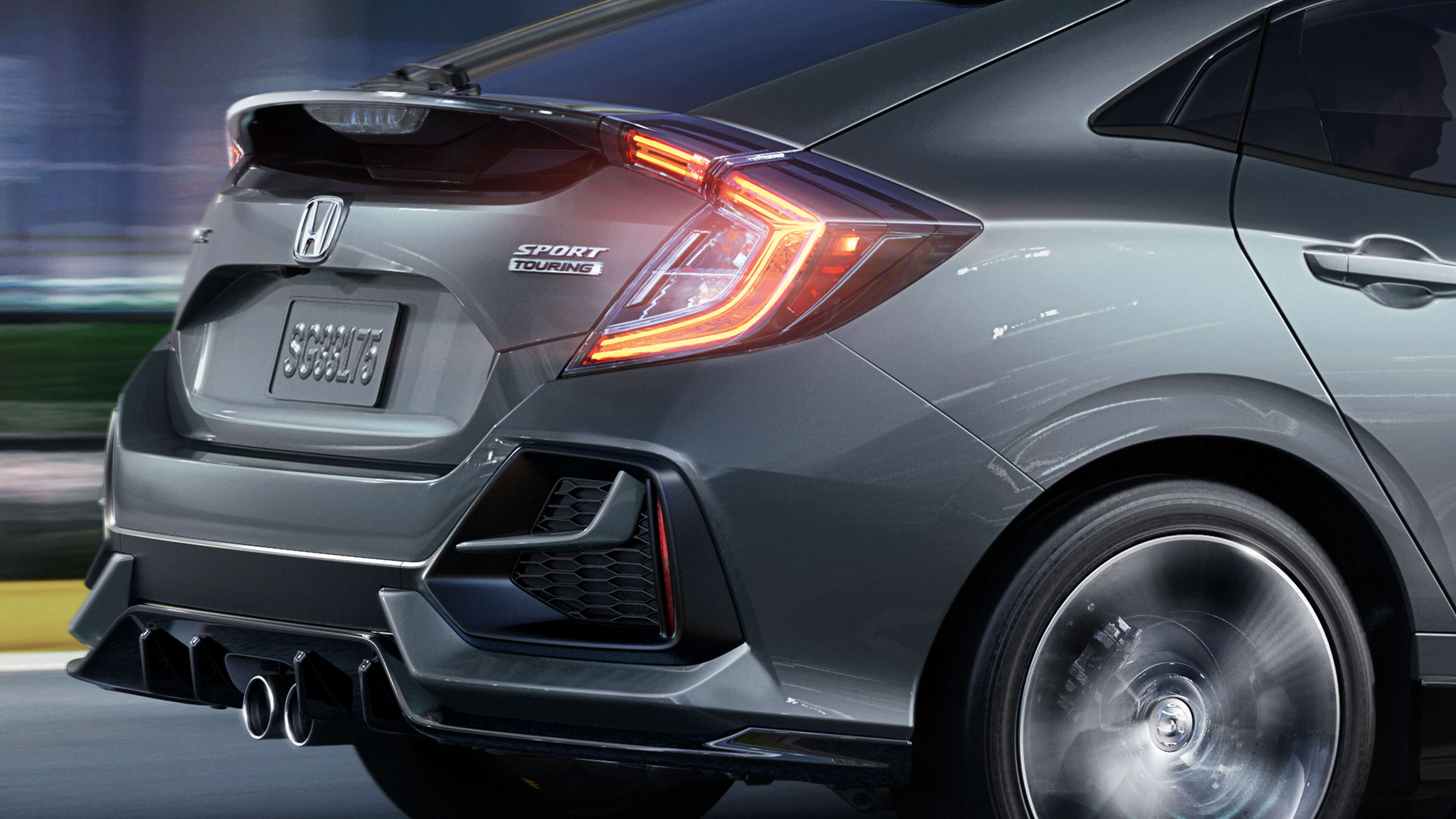 Close-up rear of Honda Civic Hatchback