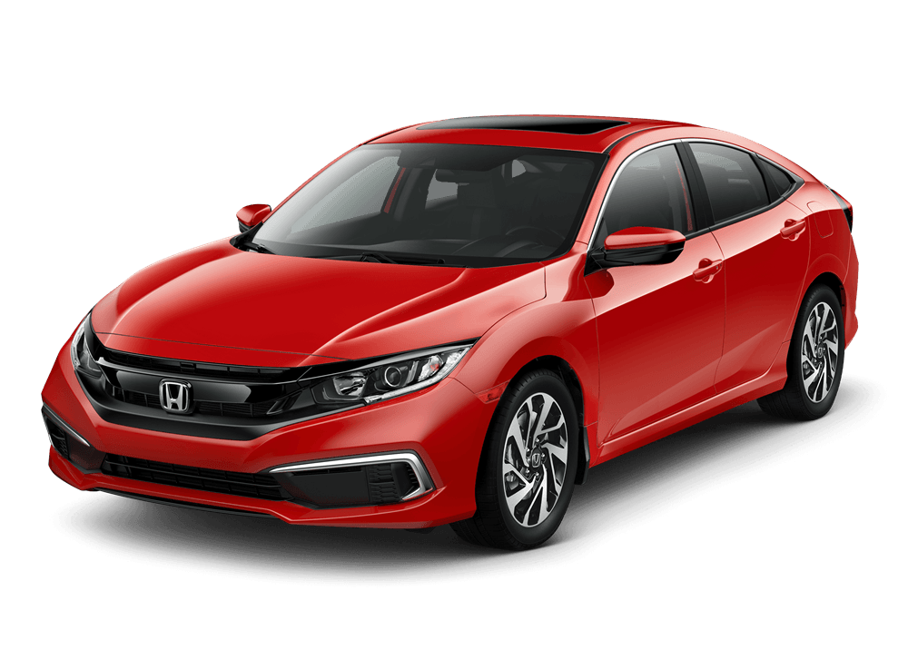 2020 Honda Civic Sedan EX in Rallye Red