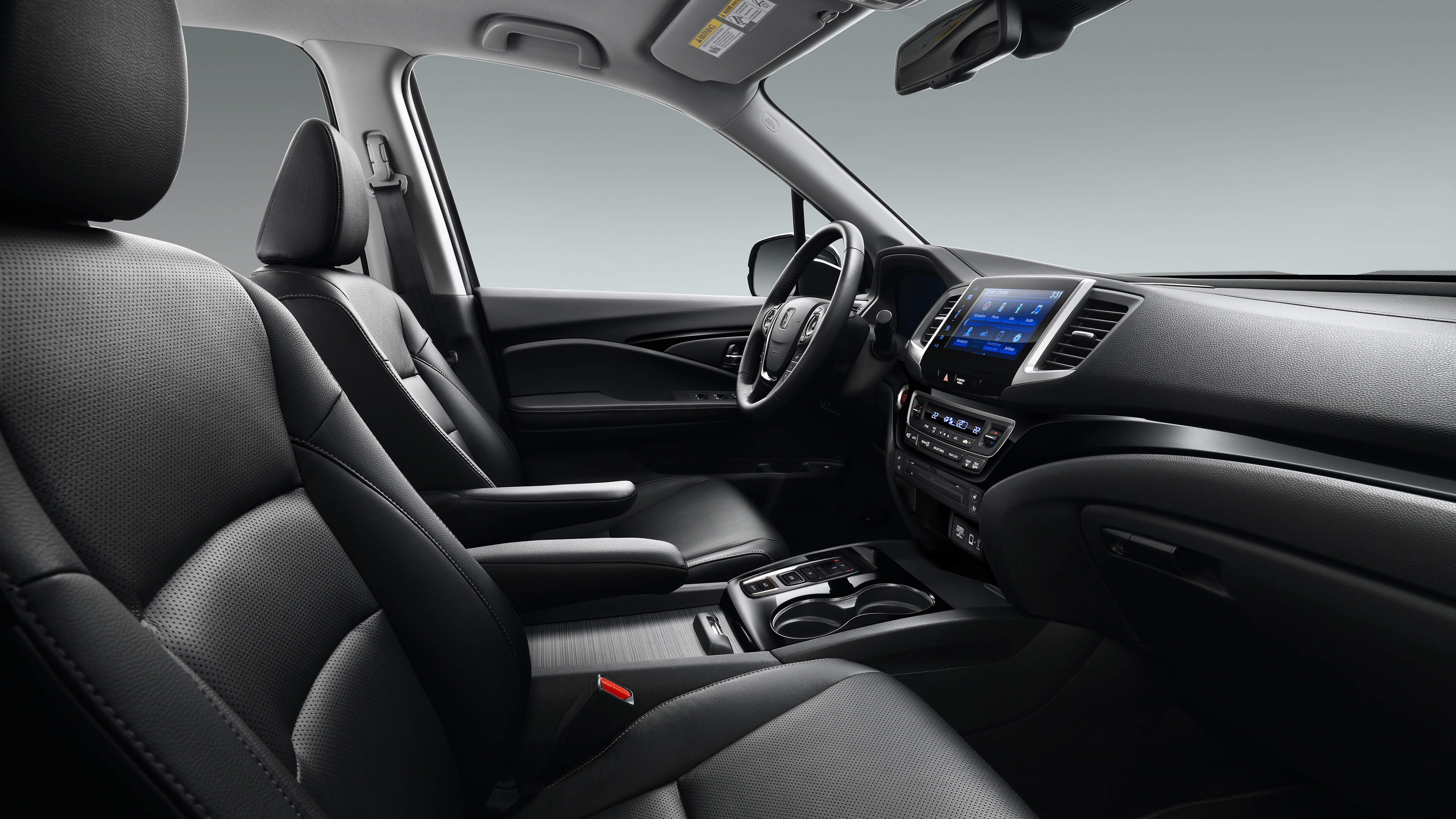 Side interior front view of the 2020 Honda Ridgeline