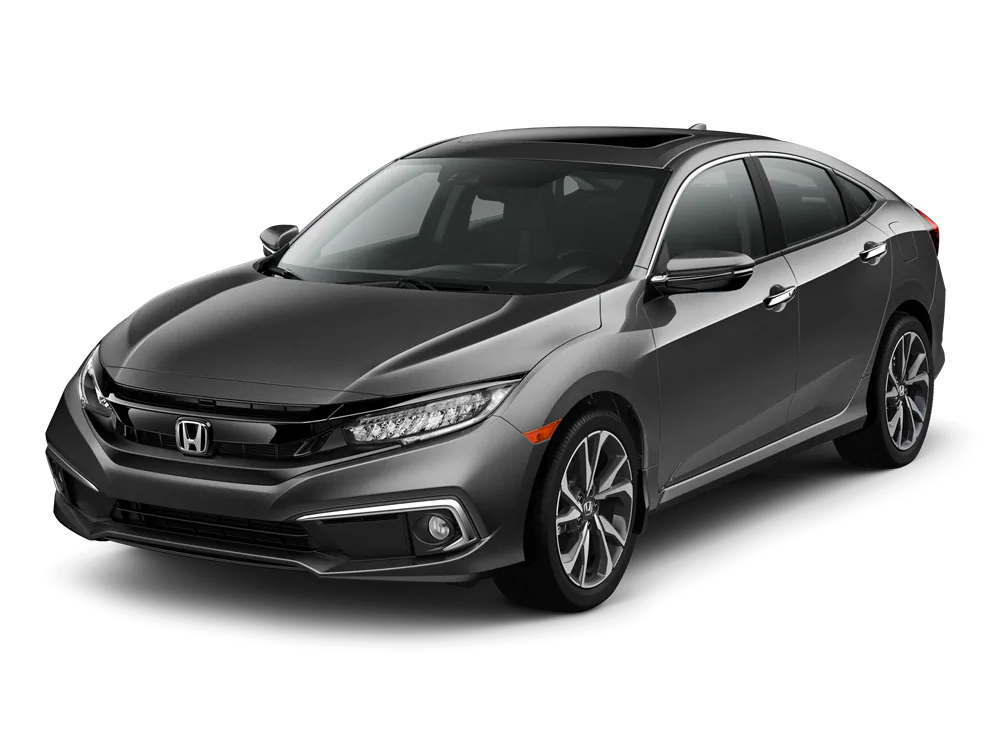 2020 Honda Civic Sedan Touring model with a front three-quarter view