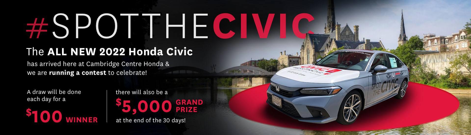 2022 Honda Civic Promotional Banner